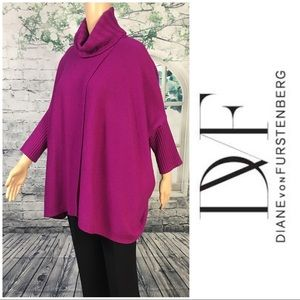 Oversized Fuchsia Sweater By DVF